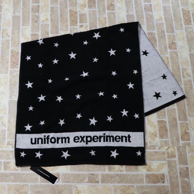 国内正規品 2015AW uniform experiment STAR BATH TOWEL BLACK 新品未使用品 [ ユニフォーム エクスペリメント スター バスタオル ブラック 黒 ]