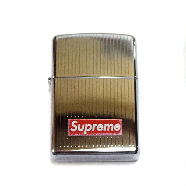 国内正規品 2015AW Supreme Engraved Zippo Silver 新品未使用品 [ シュプリーム エングレイブド ジッポ シルバー 銀 ]