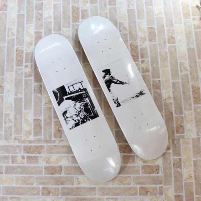 国内正規品 2014AW Supreme Raymond Pettibon Skateboard Bang Blood & Sperm 新品未使用品 [ シュプリーム レイモンド ペティボン スケートボード デッキ ホワイト 白 二枚組 ]