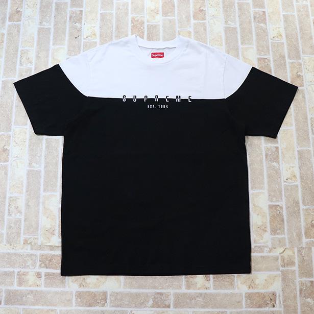 国内正規品 2018AW Supreme Split Logo S/S Top Black 新品未使用品 [ シュプリーム スプリット ロゴ S/S トップ ブラック 黒 ]