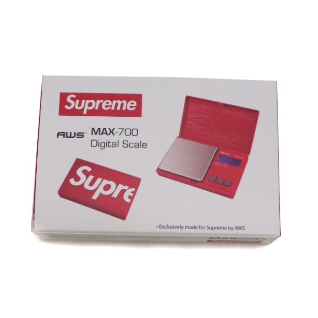 国内正規品 2018AW Supreme × AWS MAX-700 Digital Scale Red 新品未使用品 [ シュプリーム デジタル スケール レッド 赤 ]