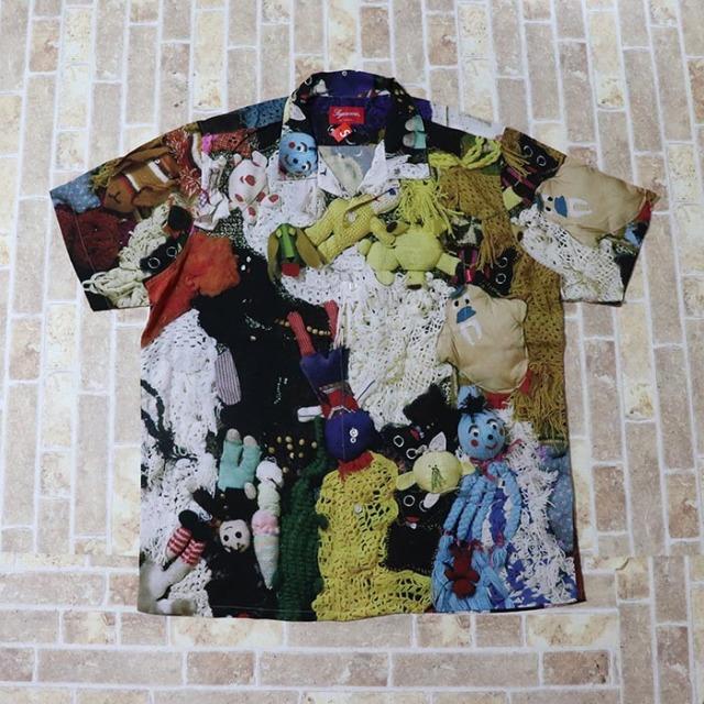 国内正規品 2018AW Supreme Mike Kelly More Love Hours Than Can Ever Be Repaid Rayon Shirt Multicolor 新品未使用品 [ シュプリーム マイク ケリー レーヨン シャツ マルチカラー ]