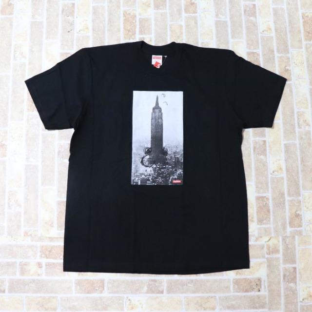国内正規品 2018AW Supreme Mike Kelly The Empire State Building Tee Black 新品未使用品 [ シュプリーム マイク ケリー エンパイア ステイト ビルディング Tシャツ ブラック 黒 ]