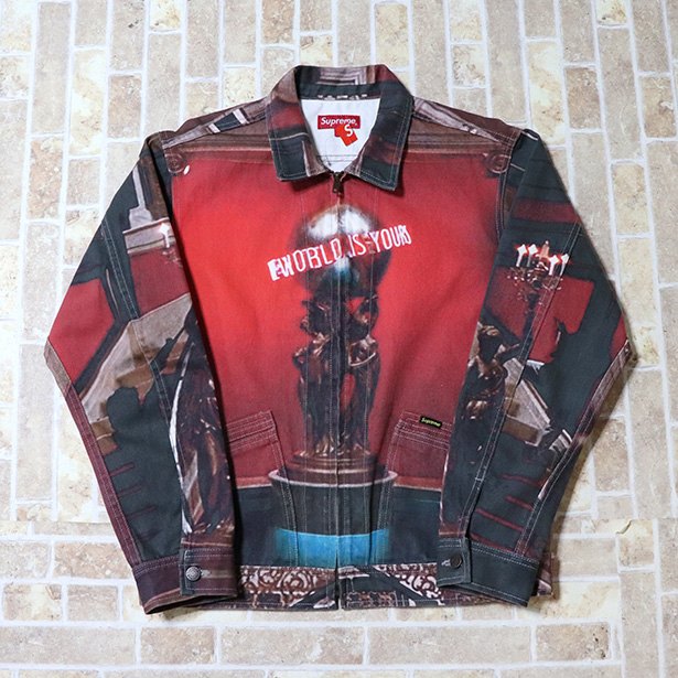 国内正規品 2017AW Supreme x Scarface World Is Yours Denim Jacket Multi 新品未使用品 [シュプリーム スカーフェイス ワールド イズ ユアーズ デニム ジャケット]