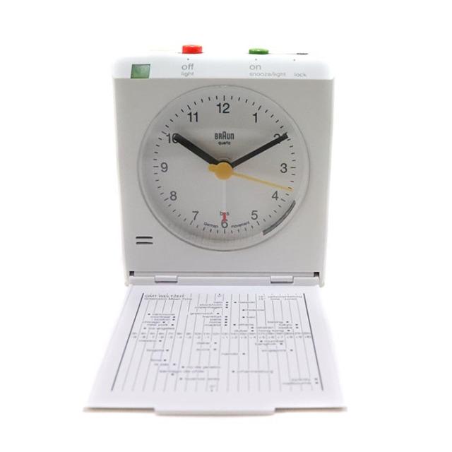 国内正規品 2015SS Supreme Braun Travel Alarm Clock White 新品未使用品 [ シュプリーム ブラウン トラベル アラーム クロック 時計 ホワイト 白 ]