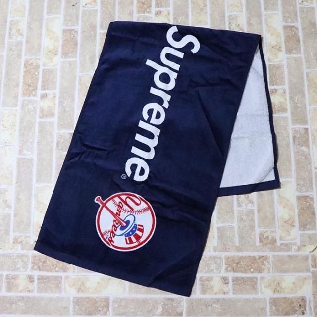 国内正規品 2015SS  New York Yankees × Supreme × '47 Brand Hand Towel Navy 新品未使用品 [ ニューヨーク ヤンキース シュプリーム 47ブランド ハンド タオル ネイビー 紺 ]
