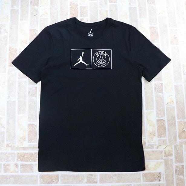 国内正規品 2018/19 NIKE AIR JORDAN Paris Saint-Germain BCFC Men's T-Shirt Black 新品未使用品 [ ナイキ エア ジョーダン パリサンジェルマン Tシャツ ブラック 黒 ]