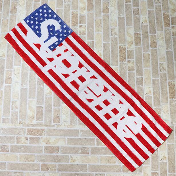 国内正規品 2012SS Supreme Flag Towel Red 美中古品 [ シュプリーム フラッグ タオル レッド 赤 アメリカ 国旗 ]
