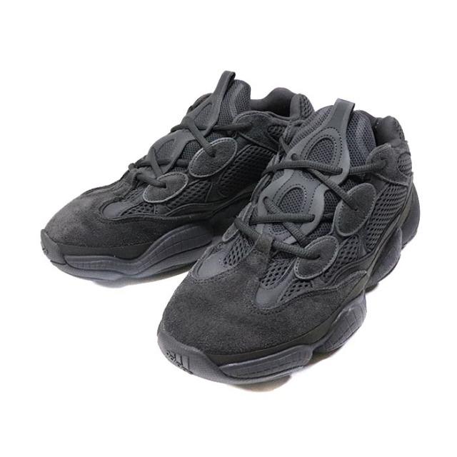国内正規品 2018 adidas Originals by KANYE WEST Yeezy Boost 500 UTILITY BLACK Utility Black/Utility Black F36640 美中古品 [ アディダス オリジナル カニエ ウェスト イージー ブースト ユーティリティー ブラック ブラック 黒 ]