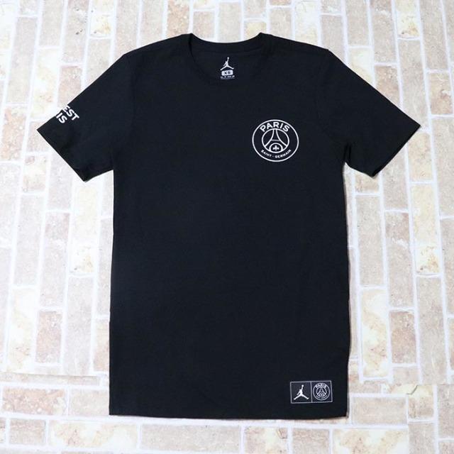 国内正規品 2018/19 NIKE AIR JORDAN Paris Saint-Germain Men's Logo T-Shirt Black 新品未使用品 [ ナイキ エア ジョーダン パリサンジェルマン ロゴ Tシャツ ブラック 黒 ]