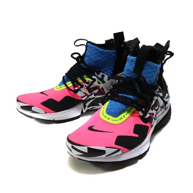 国内正規品 2018 ACRONYM × NIKE AIR PRESTO MID Hyper Pink AH7832-600 新品未使用品 [ アクロニウム ナイキ エア プレスト ミッド ハイパーピンク ]