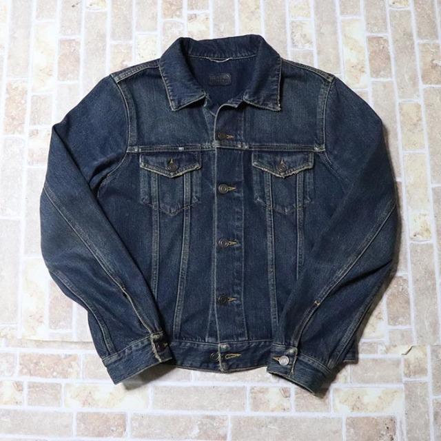 国内正規品 2015SS SAINT LAURENT PARIS Original Jeans Jacket Dark Dirty Vintage Blue 美中古品 [ サンローラン パリス オリジナル ジーンズジャケット ダークダーティーヴィンテージブルー 青 ]