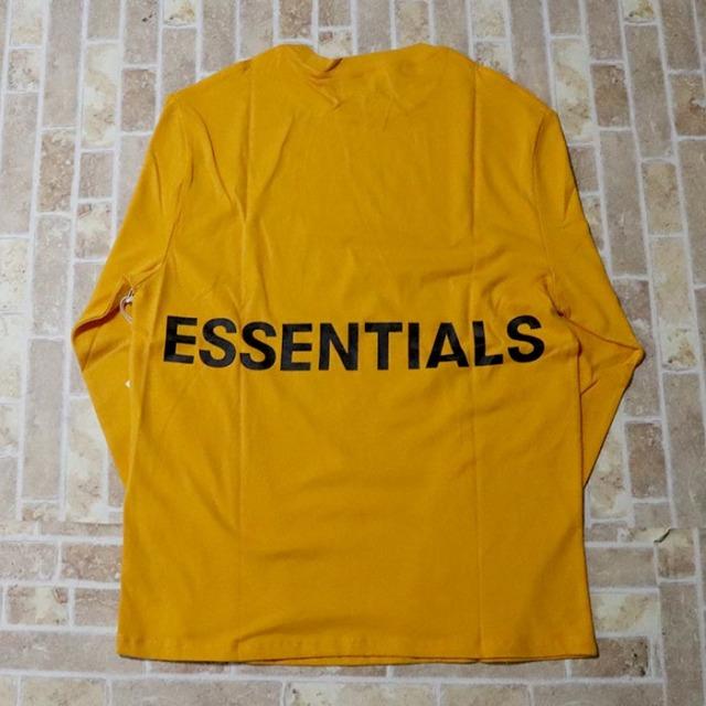 国内正規品 FOG Fear of god Essentials Boxy Graphic Long Sleeve T-Shirt YELLOW 新品未使用品 [ フィアオブゴッド Tシャツ イエロー ]