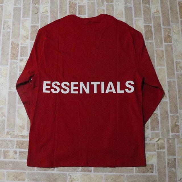 国内正規品 FOG Fear of god Essentials Boxy Graphic Long Sleeve T-Shirt RED 新品未使用品 [ フィアオブゴッド Tシャツ レッド ]