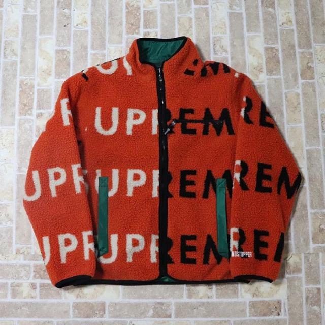 国内正規品 2018AW Supreme Reversible Logo Fleece Jacket Orange 新品未使用品 [ シュプリーム リバーシブル ロゴ フリース ジャケット オレンジ ]