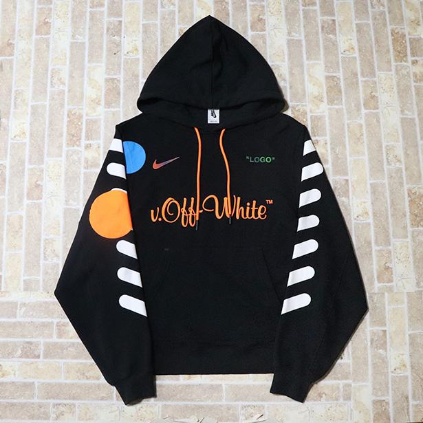 国内正規品 2018SS Off-White x Nike Hood Parka Black 美中古品 [ オフホワイト ナイキ パーカー ブラック 黒 ]