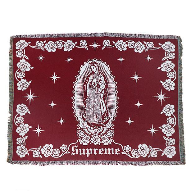国内正規品 2018AW Supreme Virgin Mary Blanket Red 新品未使用品 [ シュプリーム ヴァージン マリー ブランケット レッド 赤 ]