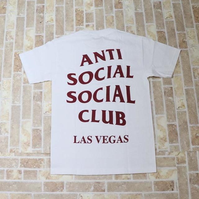 正規品 2018 Anti Social Social Club Las Vegas White Tee 新品未使用品 [ アンチ ソーシャル ソーシャル クラブ ASSC ラスベガス ホワイト Tシャツ ]
