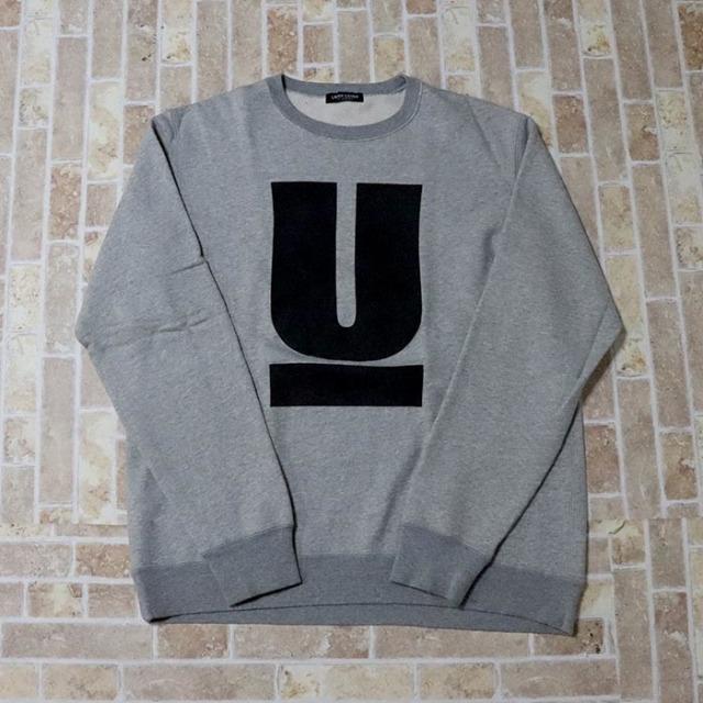正規品 UNDERCOVER U Logo Crewneck Sweater Grey 美中古品 [ アンダーカバー U ロゴ クルーネック セーターグレー 灰 ]