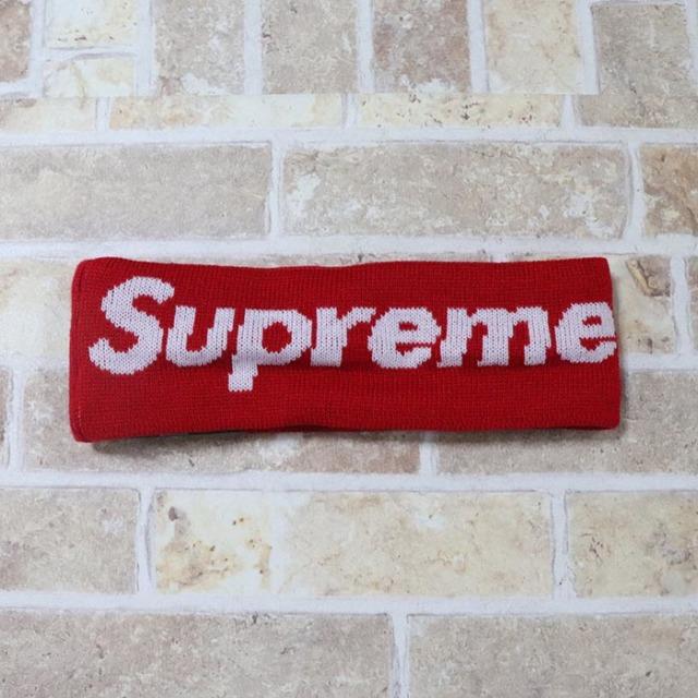 国内正規品 2018AW Supreme × New Era Big Logo Headband Red 新品未使用品 [ シュプリーム ニューエラ ビッグロゴ ヘッドバンド レッド 赤 ]