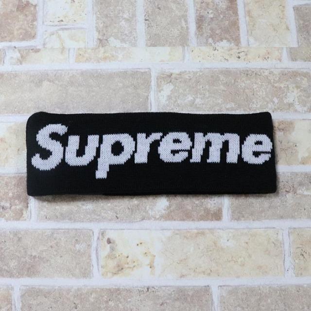 国内正規品 2018AW Supreme × New Era Big Logo Headband Black 新品未使用品 [ シュプリーム ニューエラ ビッグロゴ ヘッドバンド ブラック 黒 ]