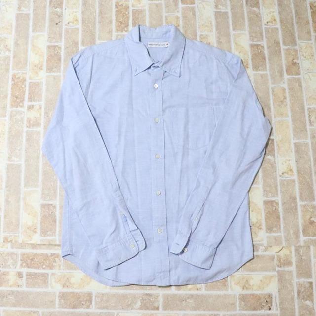 正規品 HEAD PORTER  Button Shirt Light Blue 美中古品 [ ヘッドポーター ボタン シャツ ライトブルー 青 水色 ]