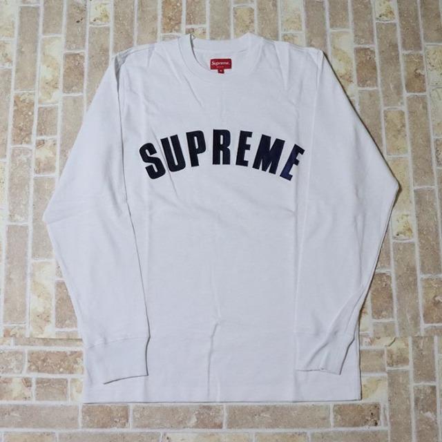 国内正規品 2016SS Supreme Arc Logo L/S Top White 新品未使用品 [ シュプリーム アーチ ロゴ ロングスリーブ トップ Tシャツ ホワイト 白 ]