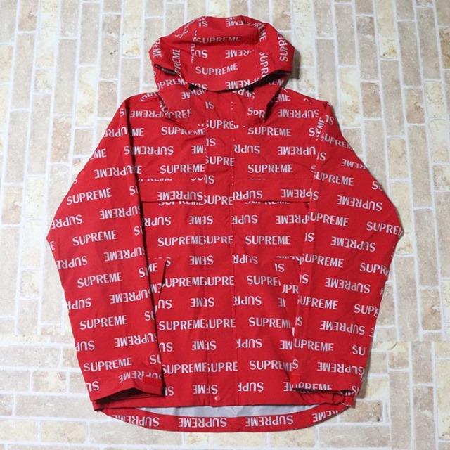 国内正規品 2016AW Supreme 3M Reflective Repeat Taped Seam Jacket Red 新品未使用品 [ シュプリーム スリーエム リフレクティブ リピート テイプド シーム ジャケット レッド 赤 ]