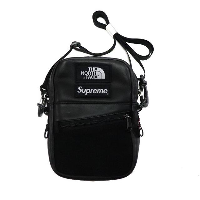 国内正規品 2018AW SUPREME × THE NORTH FACE Leather Shoulder Bag Black 新品未使用品 [シュプリーム ノースフェイス レザー ショルダーバッグ ブラック 黒 ]