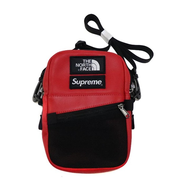 国内正規品 2018AW SUPREME × THE NORTH FACE Leather Shoulder Bag Red 新品未使用品 [シュプリーム ノースフェイス レザー ショルダーバッグ レッド 赤 ]