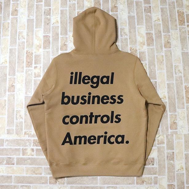 国内正規品 2018SS Supreme Illegal Business Hooded Sweatshirt Light Brown 新品未使用品 [ シュプリーム イリーガル ビジネス フーディー パーカー ライト ブラウン ]