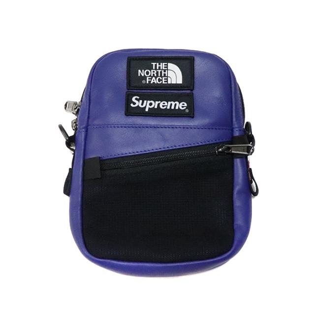 国内正規品 2018AW SUPREME × THE NORTH FACE Leather Shoulder Bag Royal 新品未使用品 [シュプリーム ノースフェイス レザー ショルダーバッグ ロイヤル 青 ]