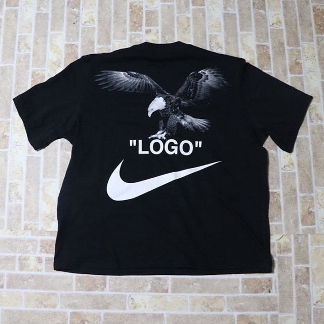 国内正規品 2018SS OFF-WHITE × NIKE T-Shirt Black 新品未使用品 [ オフホワイト ナイキ Tシャツ ブラック 黒 ]