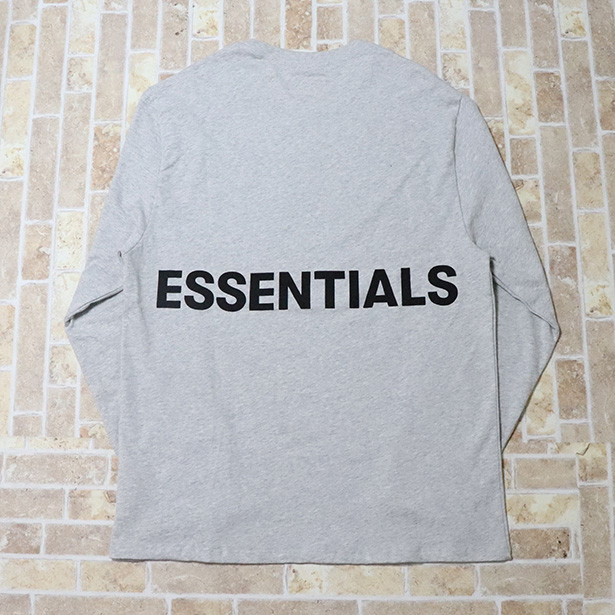 国内正規品 FOG Fear of god Essentials Boxy Graphic Long Sleeve T-Shirt GREY 美中古品 [ フィアオブゴッド Tシャツ グレー 灰 ]