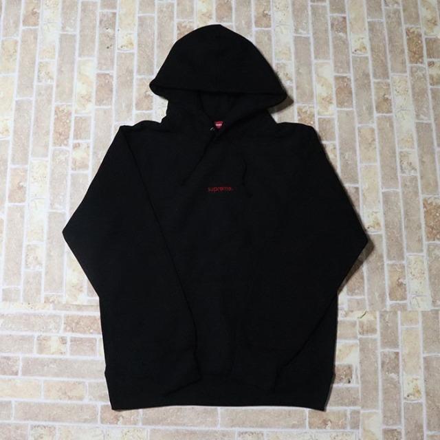 国内正規品 2018AW Supreme Trademark Hooded Sweatshirt Black 新品未使用品 [ シュプリーム トレードマーク フーデッド スウェットシャツ パーカー ブラック 黒 ]