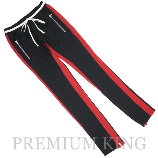 FEAR OF GOD 5th Collection DOUBLE STRIPED TRACK PANTS BLACK RED 新品未使用品 [ 国内正規取扱店購入 FOG フィアオブゴッド ダブル ストライプ トラック パンツ ブラック レッド 黒 赤 ]