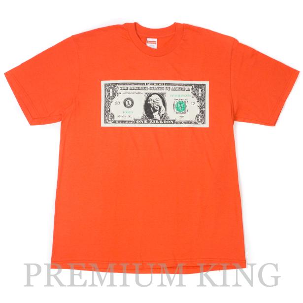 国内正規品 2017AW Supreme Dollar Tee Orange 新品未使用品 [ シュプリーム ダラー Tシャツ オレンジ ]