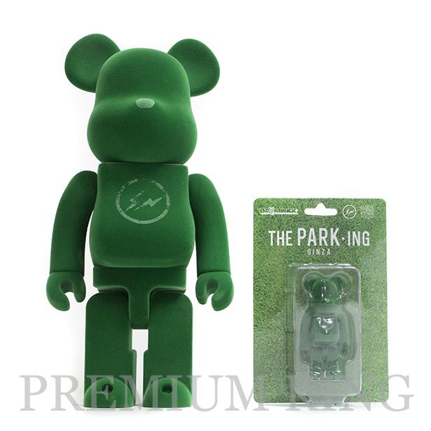 MEDICOM TOY BE@RBRICK fragment design THE PARK ING GINZA 100% & 400% 2体セット 新品未開封品 [ メディコムトイ ベアブリック フラグメント デザイン ザ・パーキング銀座 ]