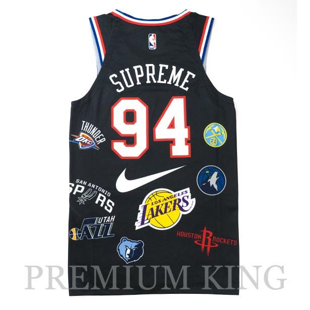 国内正規品 2018SS Supreme/Nike/NBA Teams Authentic Jersey Black 新品未使用品 [ シュプリーム ナイキ エヌビーエー チーム オーセンティック ジャージ ブラック 黒 AQ4227-010 ]