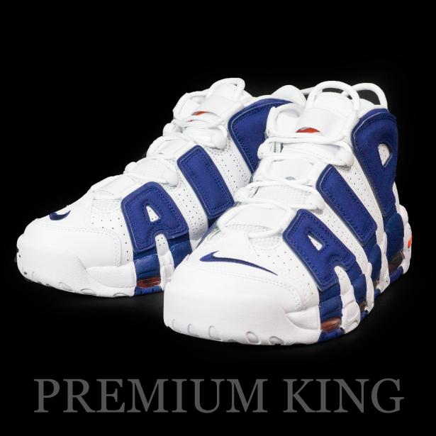 正規品 NIKE AIR MORE UPTEMPO 96 Knicks WHITE, ROYAL BLUE & ORANGE 新品未使用品 [ ナイキ エア モア アップテンポ ニックス モアテン ホワイト ブルー 921948-101 ]