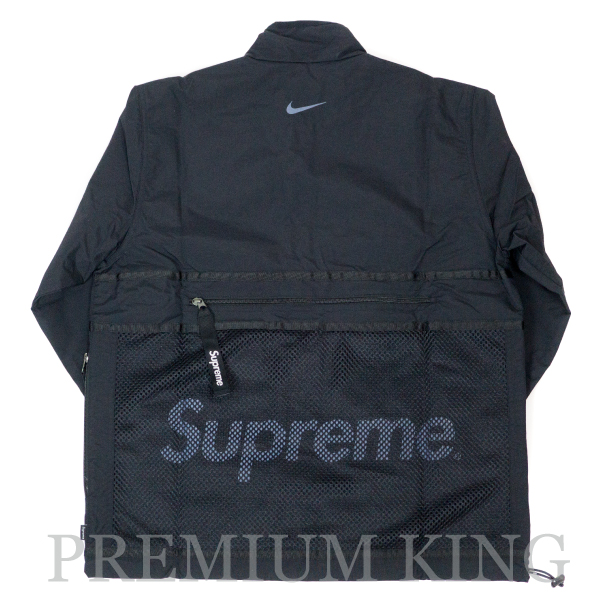 国内正規品 2017AW Supreme × Nike Trail Running Jacket Black 新品未使用品 [ シュプリーム ナイキ トレイル ランニング ジャケット ブラック 黒 ]