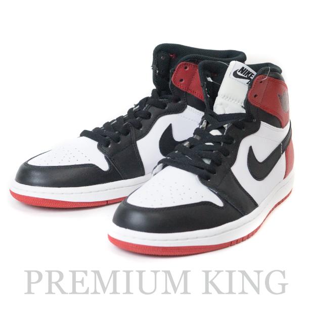 """国内正規品 NIKE AIR JORDAN 1 Retro High OG """"Black Toe"""" White/Black-Gym Red 2013 新品同様品 [ ナイキ エアジョーダン 1 レトロ つま黒 ホワイト/ブラック-ジム レッド 555088-184 ]"""