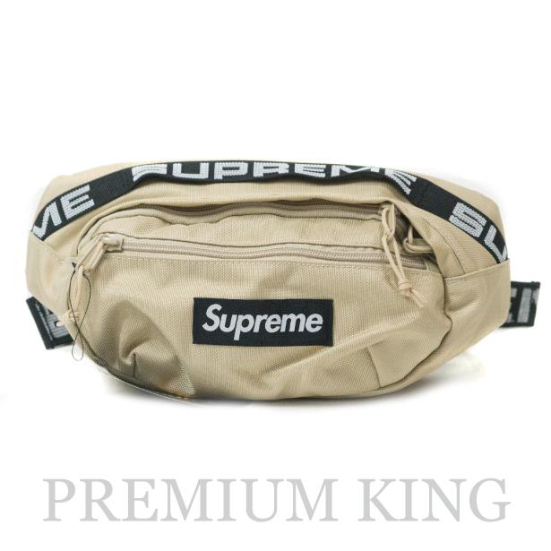 国内正規品 2018SS Supreme 1050D Cordura ripstop nylon Waist Bag Tan 新品未使用品 [ シュプリーム コーデュラ リップストップ ナイロン ウエスト バッグ タン ベージュ]