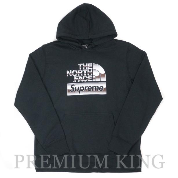 国内正規品 2018SS Supreme × The North Face Metallic Logo Hooded Sweatshirt Black 新品未使用品 [ シュプリーム TNF ノースフェイス メタリック ロゴ フーディー パーカー ブラック ]
