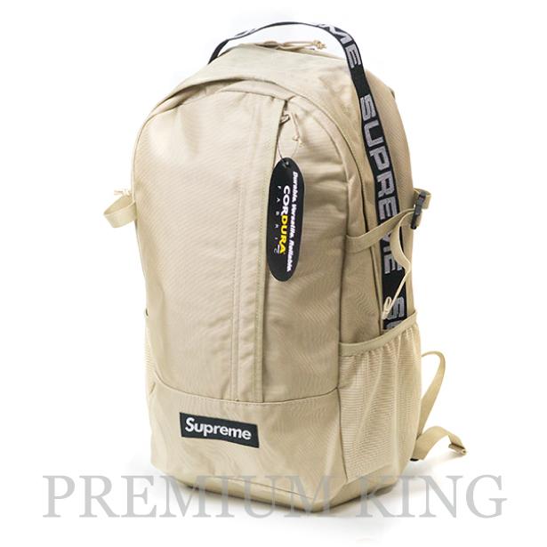 国内正規品 2018SS Supreme 1050D Cordura ripstop nylon Backpack Beige 新品未使用品 [ シュプリーム コーデュラ リップストップ ナイロン バックパック ベージュ 茶 ]