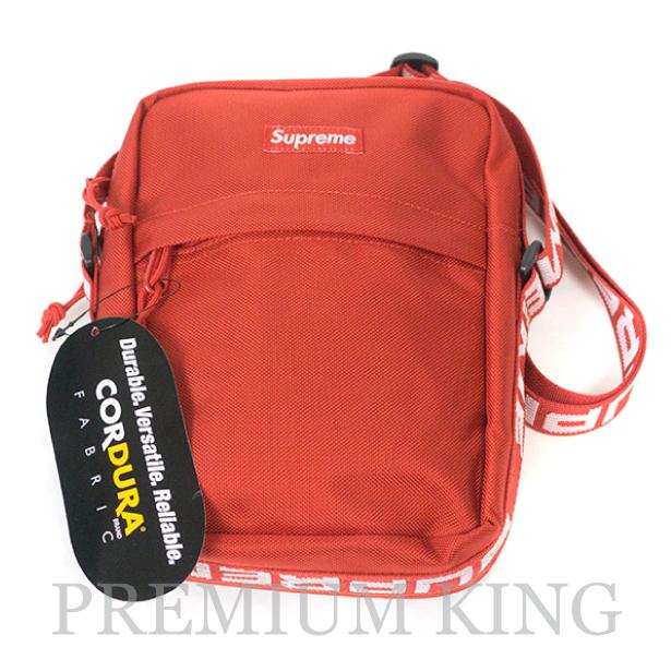 国内正規品 2018SS Supreme 1050D Cordura ripstop nylon Shoulder Bag Red 新品未使用品 [ シュプリーム コーデュラ リップストップ ナイロン ショルダー バッグ レッド 赤 ]