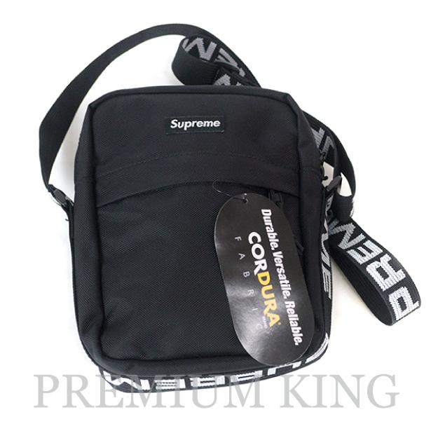 国内正規品 2018SS Supreme 1050D Cordura ripstop nylon Shoulder Bag Black 新品未使用品 [ シュプリーム コーデュラ リップストップ ナイロン ショルダー バッグ ブラック 黒 ]