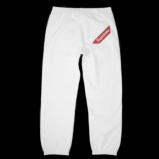 国内正規品 2018SS Supreme Corner Label Sweatpant White 新品未使用品 [ シュプリーム コーナー ラベル スウェット パンツ ホワイト 白 ]