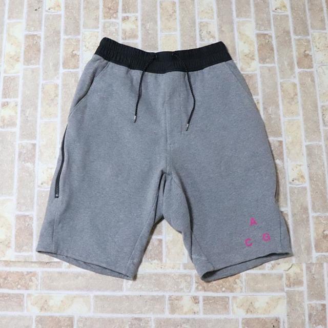 正規品 2017SS NIKELAB ACG Stretch Fleece Shorts Grey 美中古品 [ ナイキラボ エーシージー ストレッチ フリース ショーツ グレー 灰 ]