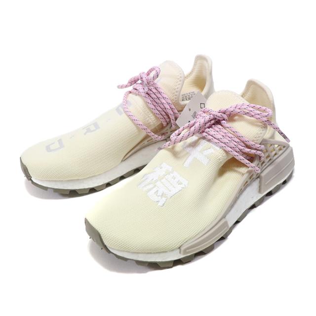 国内正規品 2018SS PHARRELL WILLIAMS × adidas originals NMD HU NERD Cream/White/Pink EE8102 新品未使用品 [ ファレルウィリアムス アディダス オリジナル NMD HU エヌイーアールディー ホワイト 白 ]